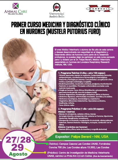 PRIMER CURSO MEDICINA Y DIAGNOSTICO CLINICO EN HURONES