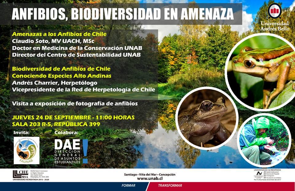 """Charla  FAUNAB: """"Anfibios, Biodiversidad en Amenaza"""""""