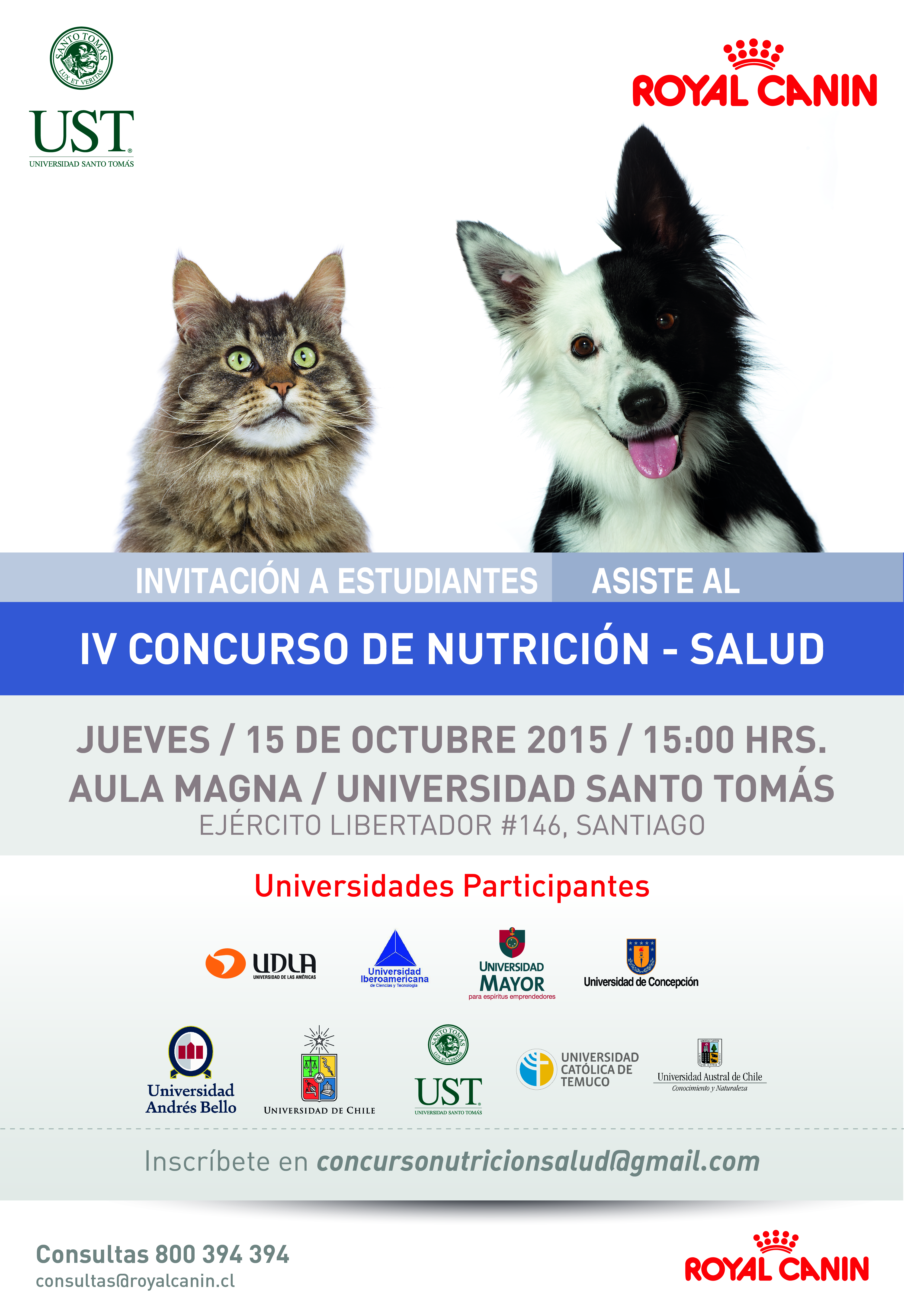CONCURSO ESTUDIANTIL ROYAL CANIN 2015