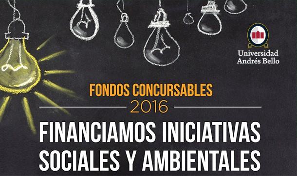 FONDO CONCURSABLE DE LA DIRECCIÓN DE RESPONSABILIDAD SOCIAL Y SUSTENTABILIDAD. ALUMNOS UNAB, 2016