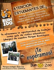 Llamado Sherpas BUINZOO-V2 2016