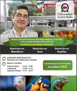 Charla nutricion mascotas exoticas
